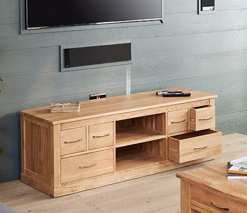 Solid oak widescreen tv cabinet