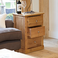 Three Drawer Lamp Table - Mobel