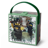 LEGO Ninjago Large Lunch Box with Carry Handle - Green 2017