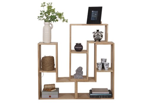 Tetris Stackable Cabinet (Oak)