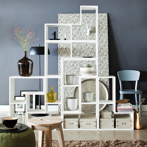 Tetris Stacking Shelves   White