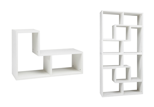 Tetris Stackable living room shelving