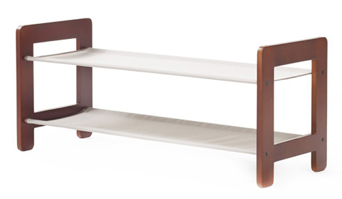 Stackable Neatfreak Wooden Shoe Rack - Greystone