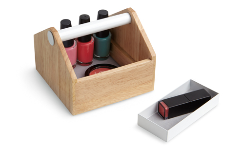 Toto Storage Box in Wood & White from umbra