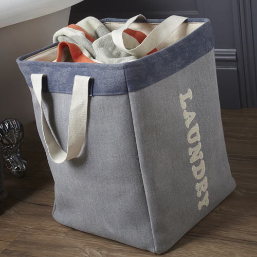 Square Canvas Laundry Bag