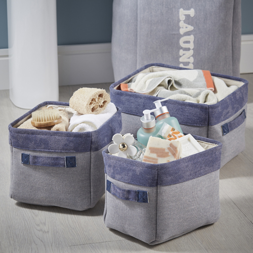 3 x Mini Canvas Storage Bags