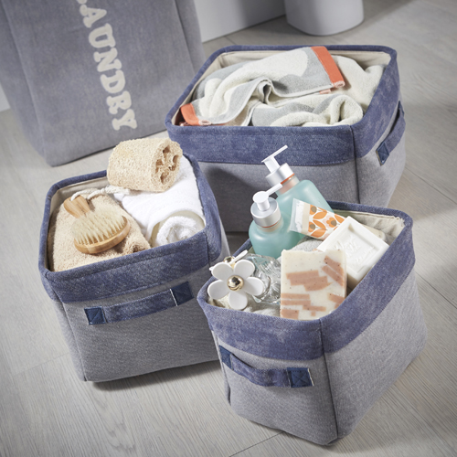 Set of Three Canvas Storage Bags (Small)