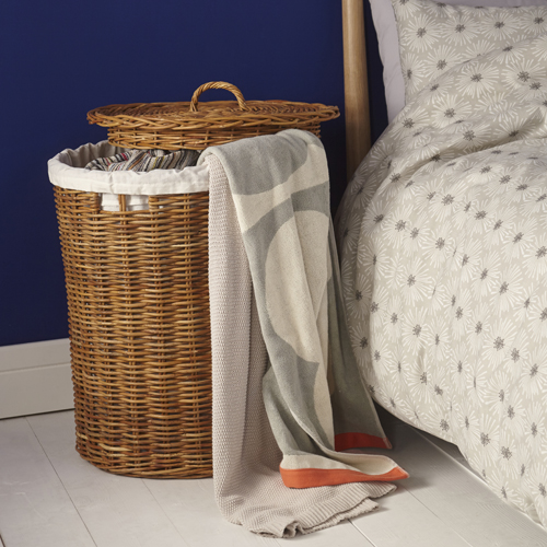 Rattan Cylindrical Basket with Lid - Large