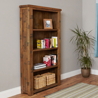 Oak Large Open Bookcase - Heyford Rough Sawn