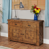 Solid Oak Small Sideboard - Heyford Rough Sawn