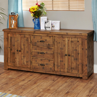 Oak Large Sideboard - Heyford Rough Sawn