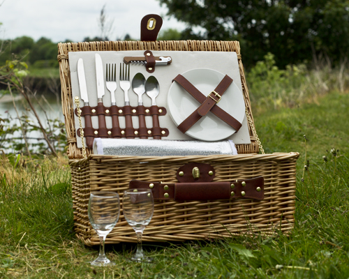 2 Person Luxury Wicker Picnic Hamper with Cooler