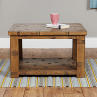 Open Coffee Table With Shelf - Heyford Rough Sawn