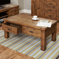 Four Drawer Coffee Table - Heyford Rough Sawn