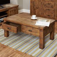 Four Drawer Coffee Table - Heyford Rough Sawn