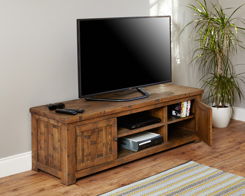 Widescreen Television Cabinet - Heyford Rough Sawn