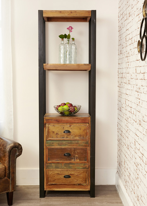 Alcove Bookcase with Drawers - Urban Chic
