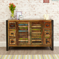 6 Drawer 2 Door Sideboard - Urban Chic