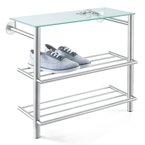 Abilio Shoe Rack with Glass Shelf