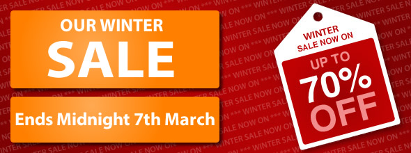 Winter Sale, Huge Reductions - Up to 70% OFF!