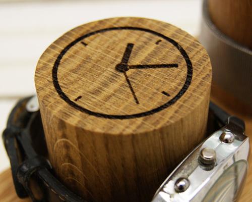 Solid Oak Watch Storage Stand - Three Column