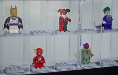 3 x Large LEGO Minifigure Display Cases