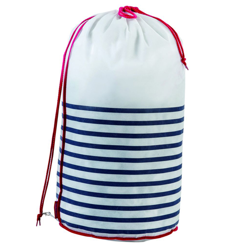 Nautical Striped Laundry Bag