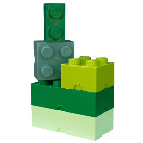 Giant LEGO Storage Blocks - All The Greens Bundle
