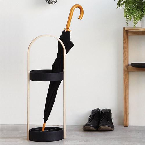 Umbrella Stand - Hub - Black - by Umbra