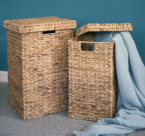 Water Hyacinth Laundry Basket - Small