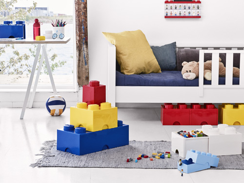 Stackable giant LEGO storage brick drawers
