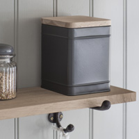 Charcoal Kitchen Canister - Borough