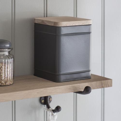 Charcoal grey borough storage canister