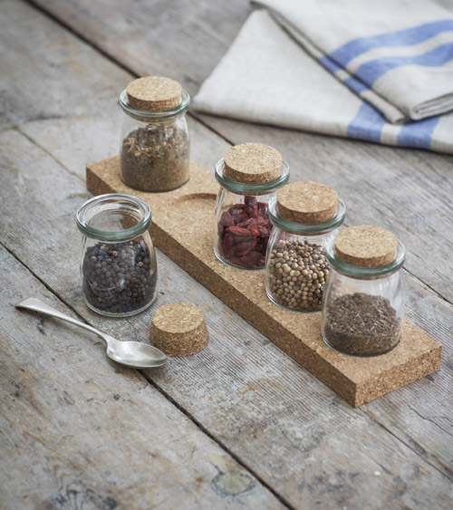 5 jar cork spice rack