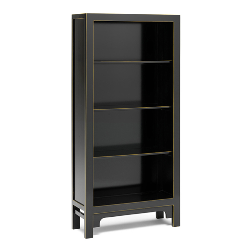 Black and gold leaf large bookcase display storage