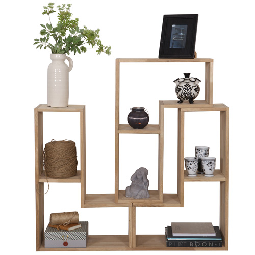 3 X Tetris Stacking Shelves Set   Oak