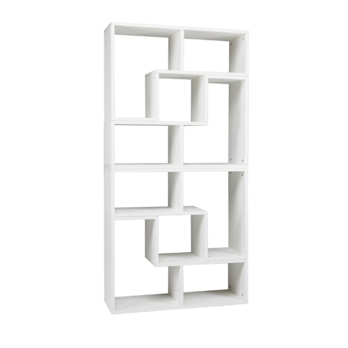 4x white tetris stacking shelves