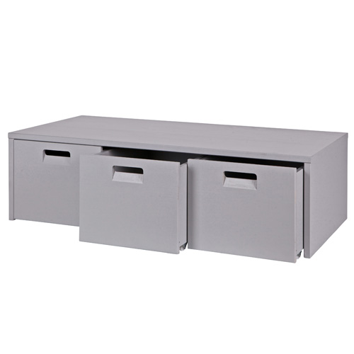 3 drawer shoe storage bench in concrete grey