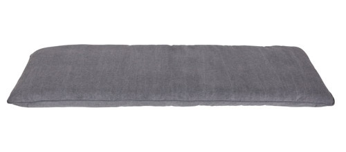 Hallway storage bench canvas cushion in grey