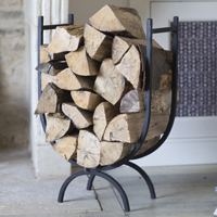 Wrought Iron Log Holder - Large