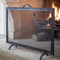 Large Firescreen - Wrought Iron