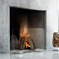 XL Contemporary Glass Firescreen