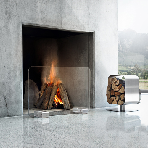 XL Contemporary Glass Firescreen
