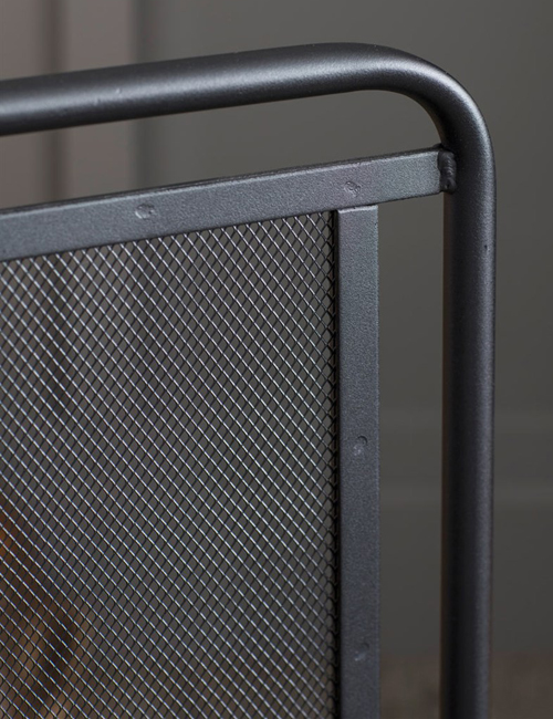 Scandi inspired firescreen steel
