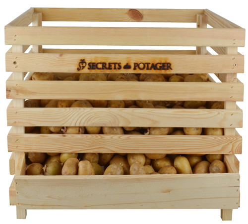 FSC pine wood potato holder