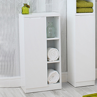 High Gloss Compact Bathroom - Cabinet