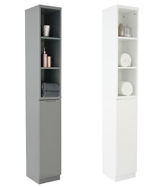 High Gloss Compact Bathroom- Tallboy