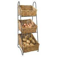 Wicker Vegetable Basket Tower