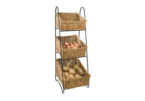 wicker vegetable rack