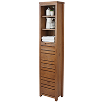 Dark Wood Bathroom Tallboy